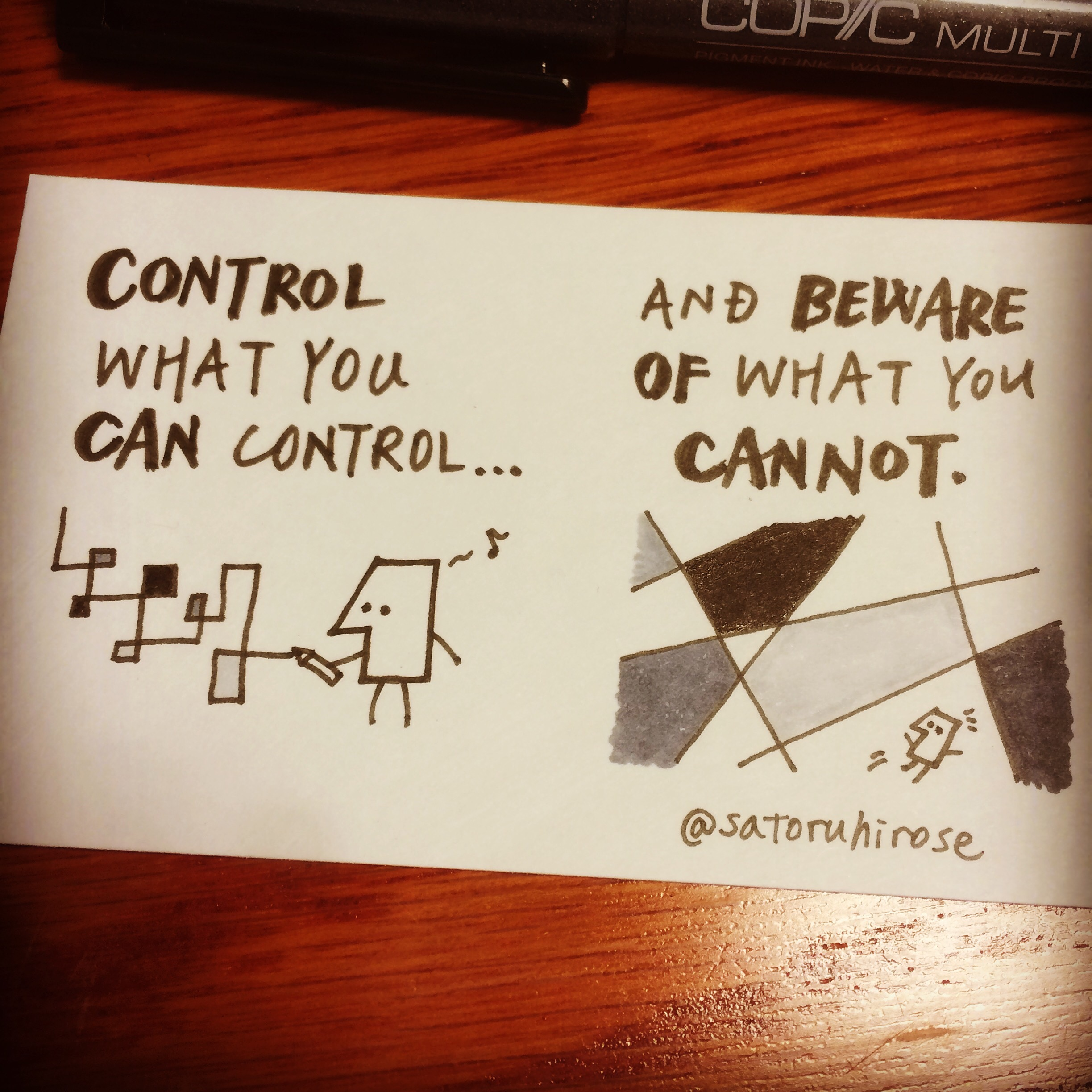 Control what you can control, and beware of what you cannot.