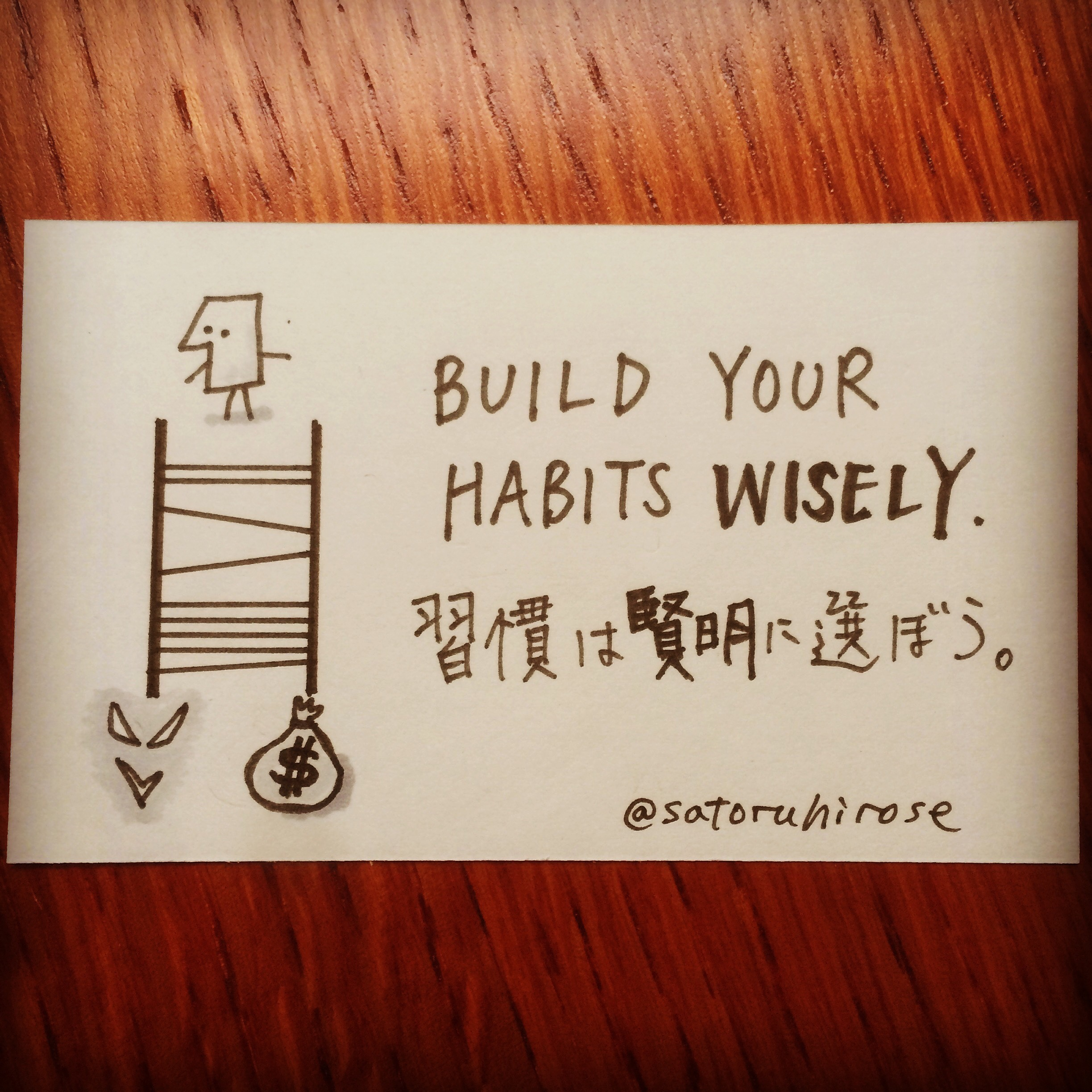 Build your habit wisely.