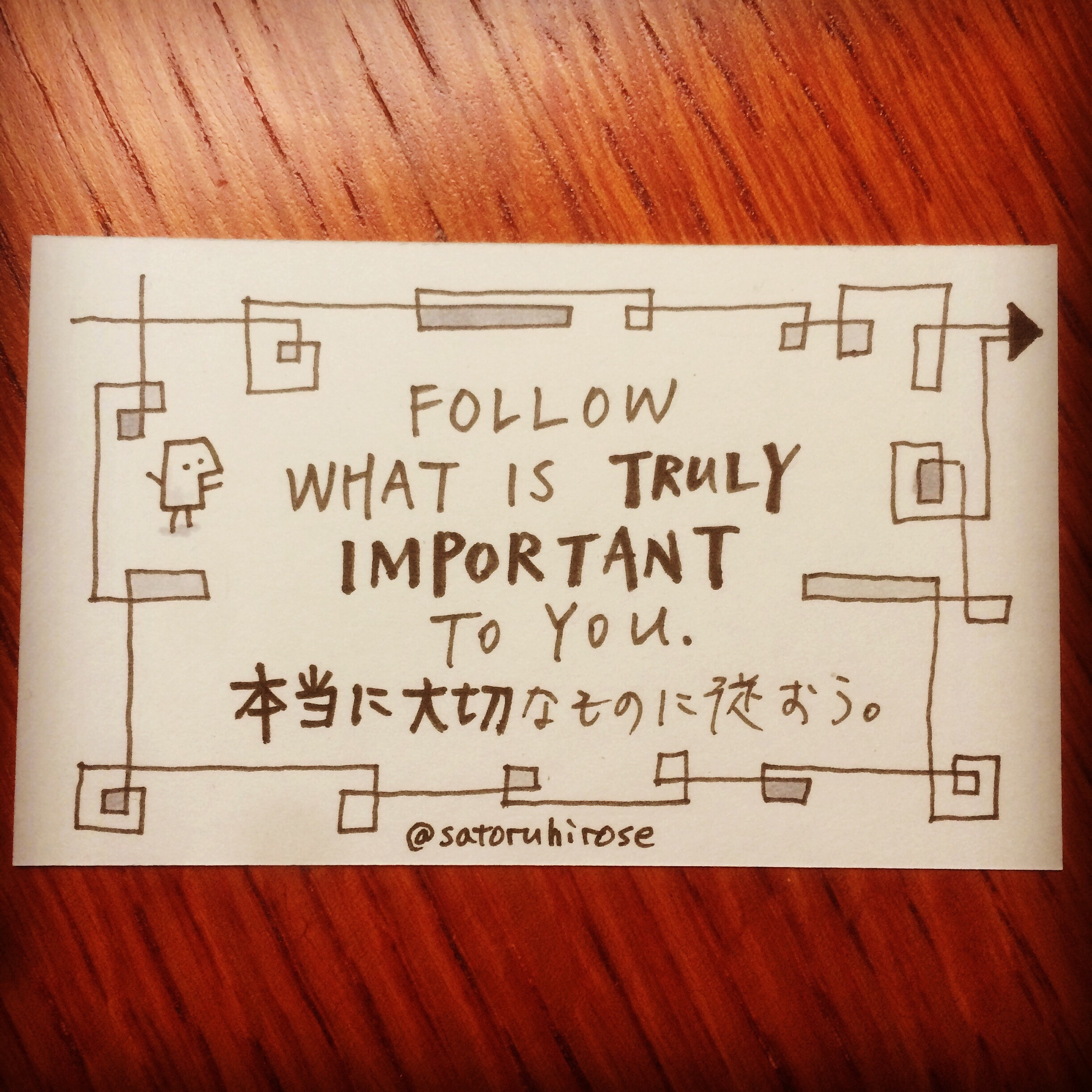 Follow what is truly important to you.