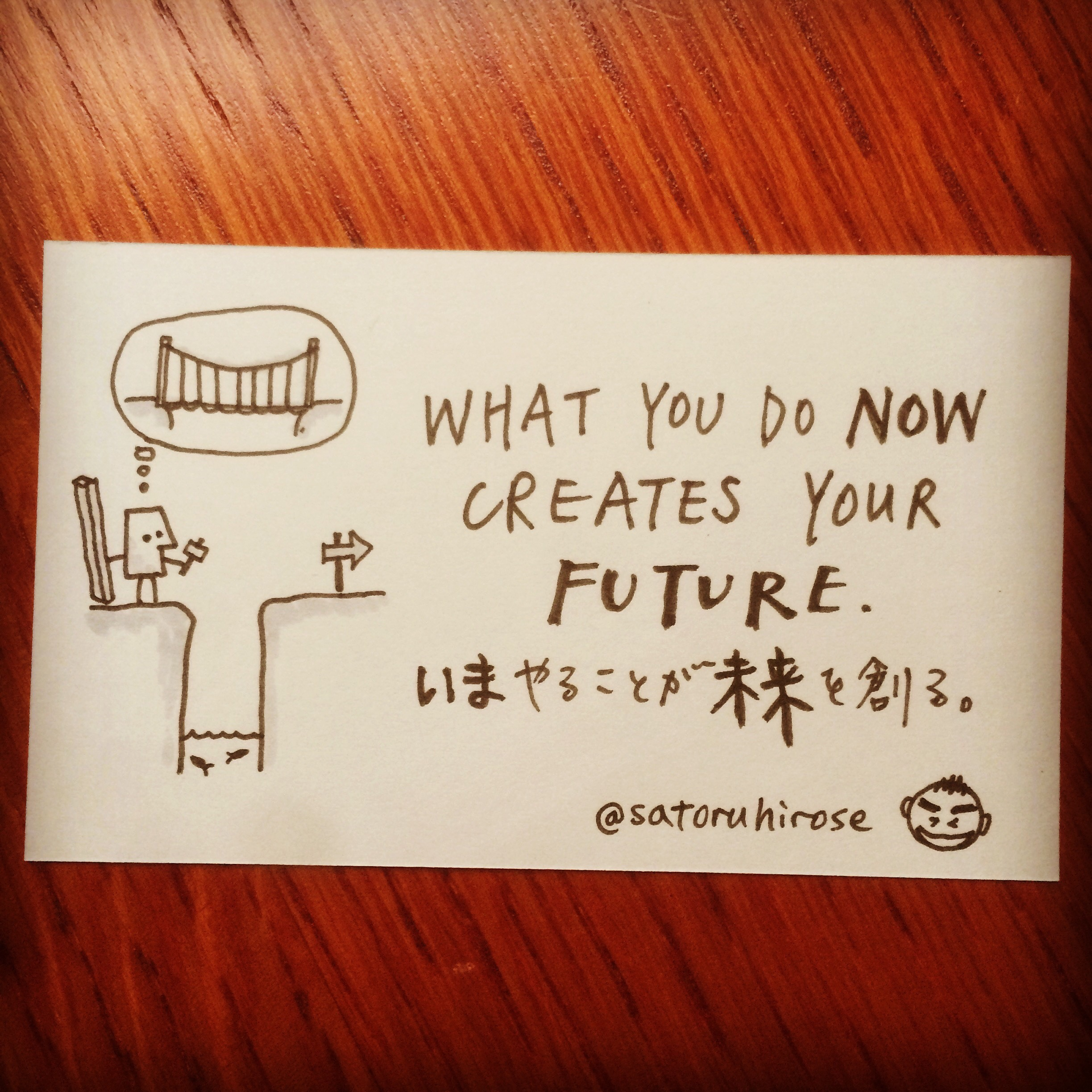 What you do now creates your future.