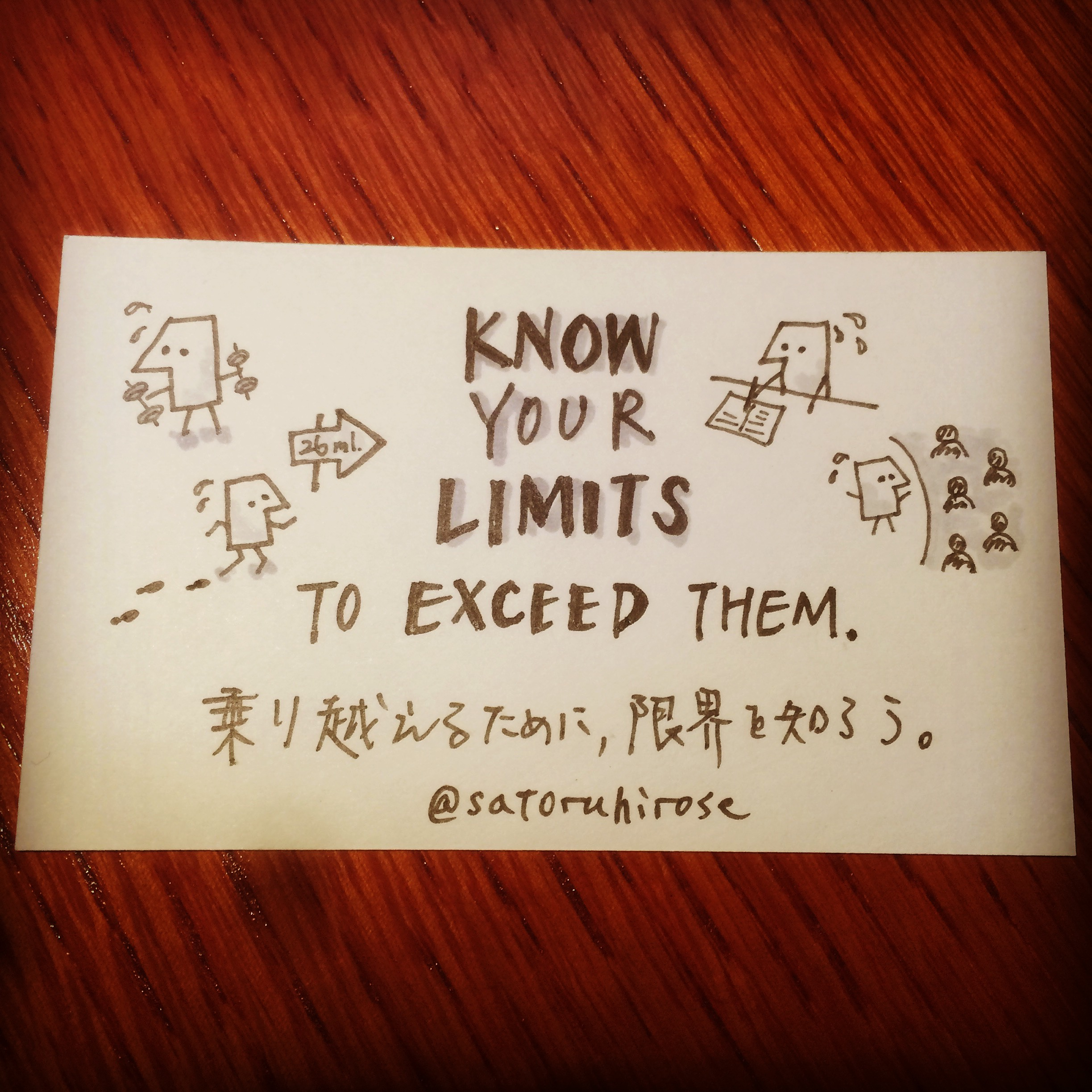 Know your limits to exceed them.