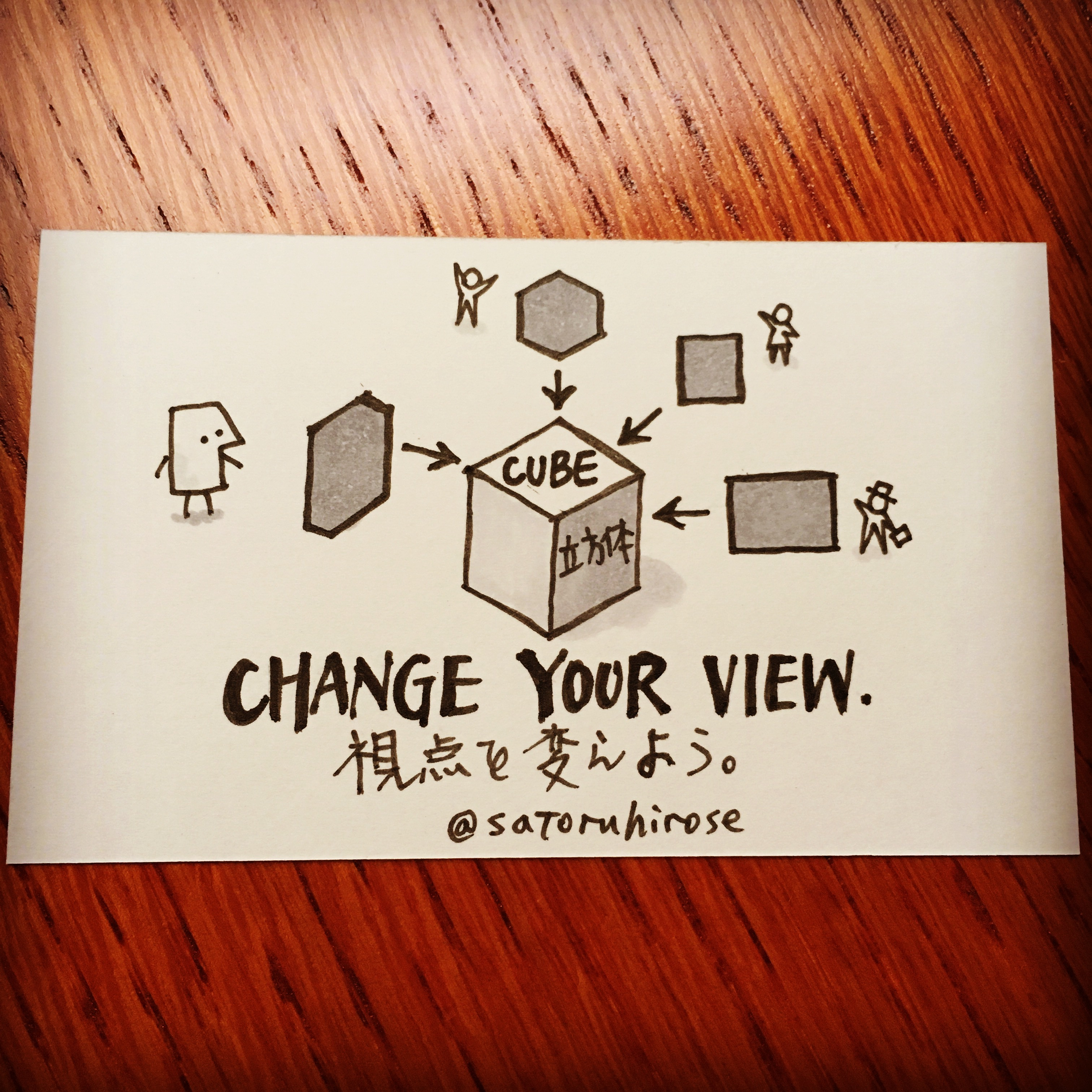 Change your view.