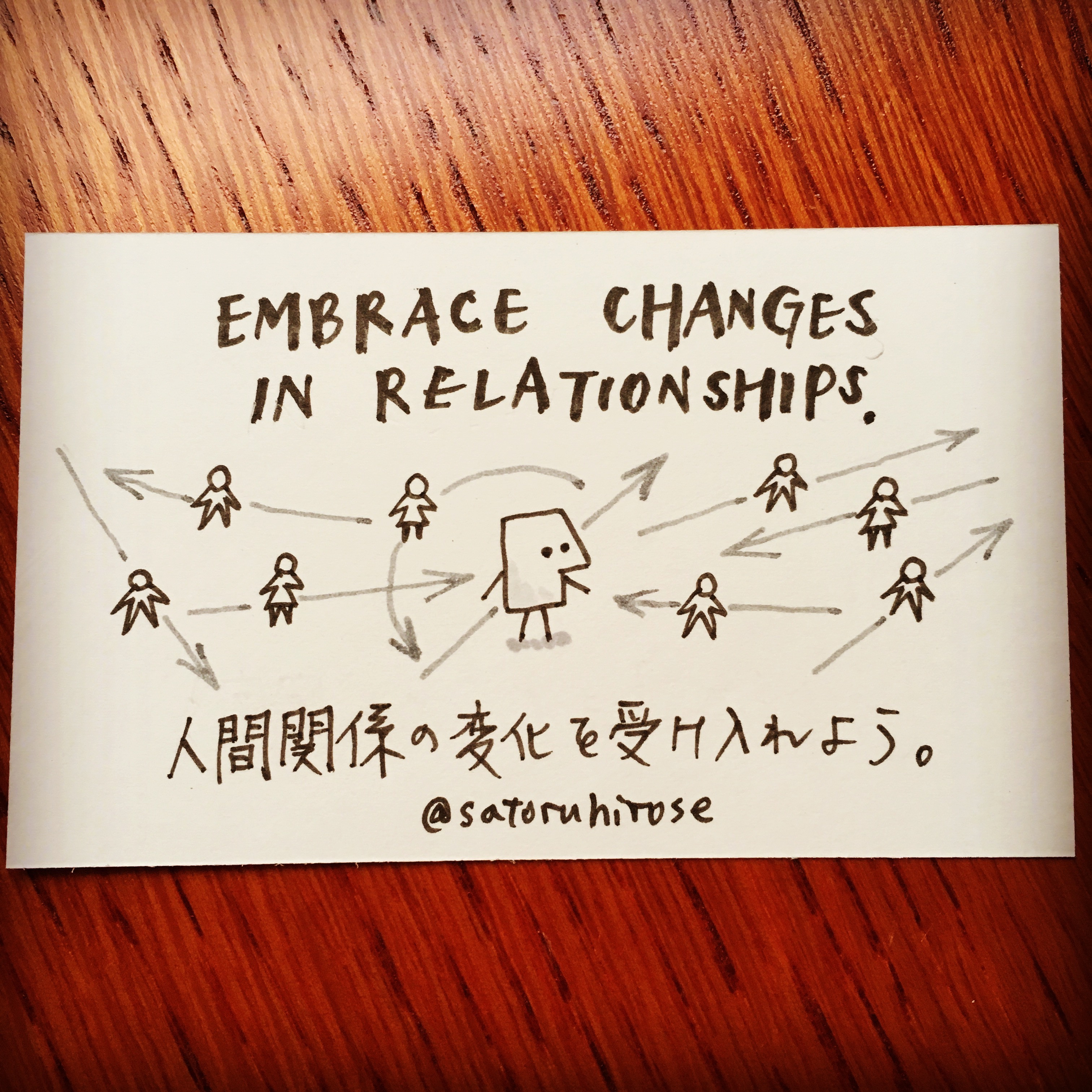 Embrace changes in relationships.