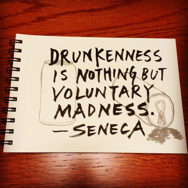 Drunkenness is nothing but voluntary madness. - Seneca