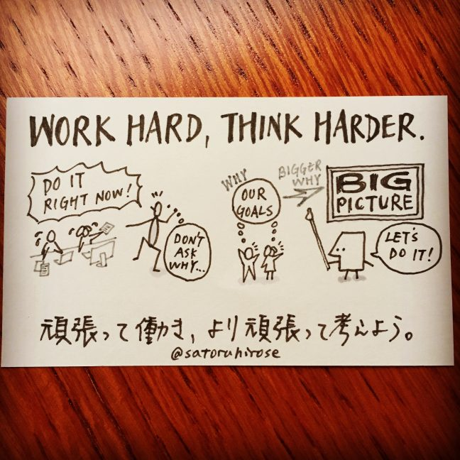Work hard, think harder.