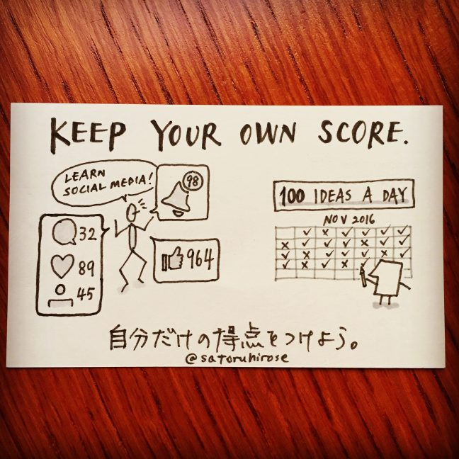 Keep your own score.