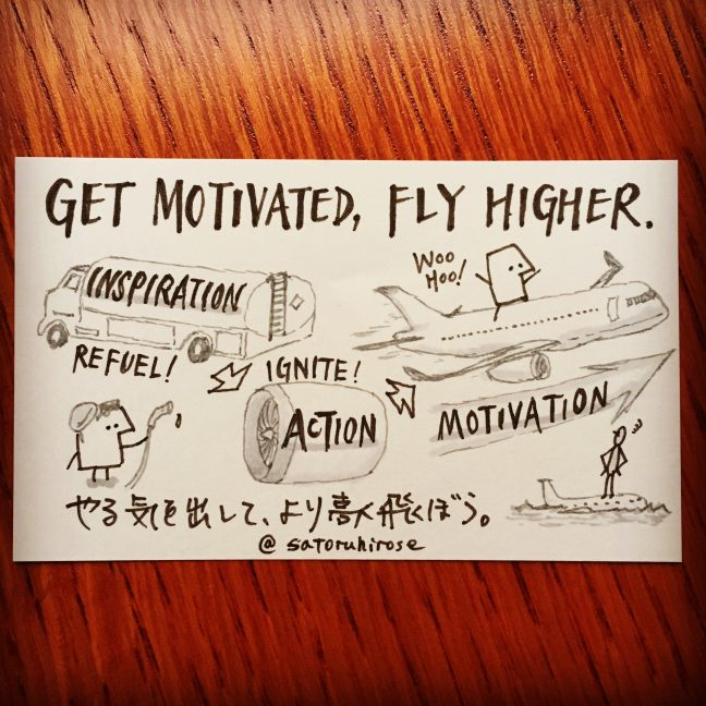 Get motivated, fly higher.