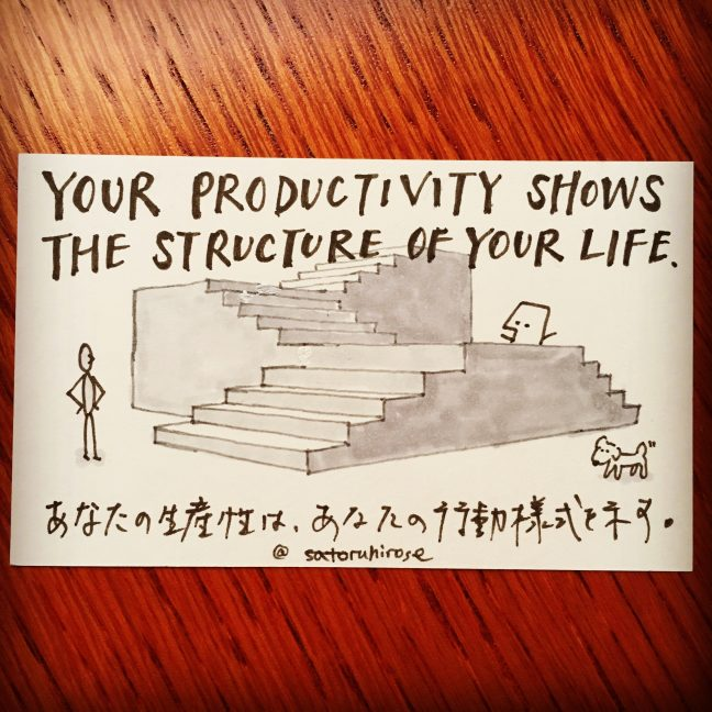 Your productivity shows the structure of your life.