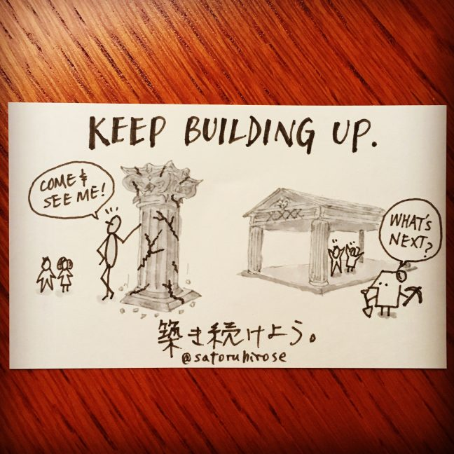 Keep building up.