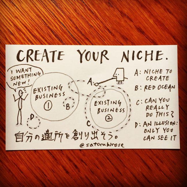 Create your niche.