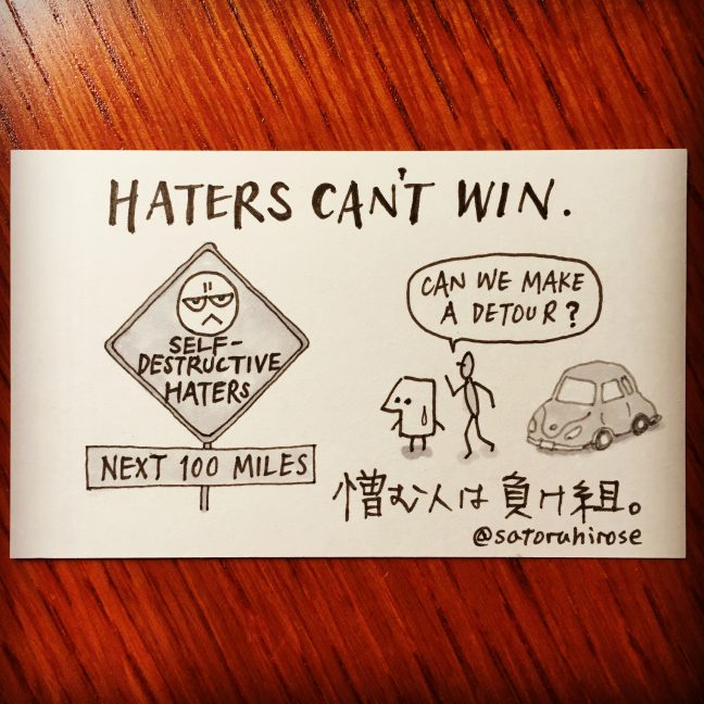 Haters can't win.