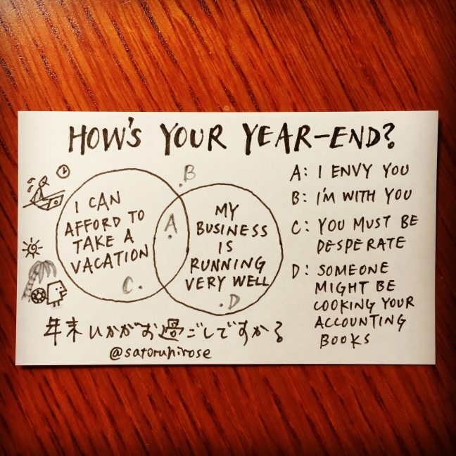How's your year-end?